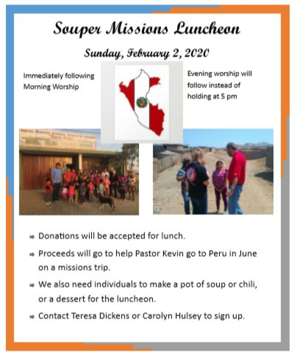 Souper Missions Luncheon